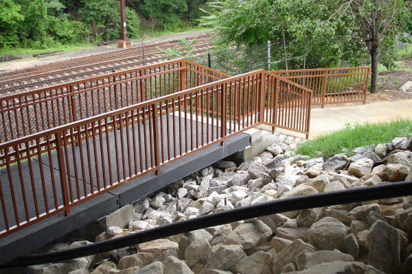 Pedestrian Bridge at MARC Odenton Ped by Armor Deck