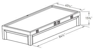 8 point Restraint Bed Dimensions (EN 6000–12R)