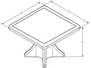 Estilo Games Table Dimensions (ES 4000-1G)