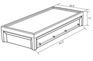 Multi point Restraint Bed Dimensions (EN 6000–12RB2)