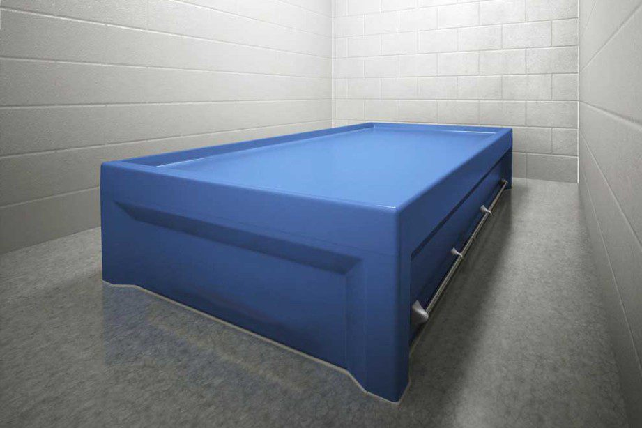Psychiatric Multi Point Restraint Bed