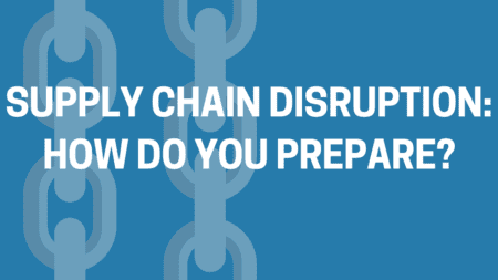 Supply chain disruption infographic title